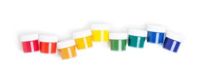 Jars of gouache Stock Image