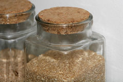 Jars of health. Cropped shot of jars filled with wholesome and healthy rice and grain Royalty Free Stock Image