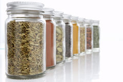 Jars Of Herbs And Spices Stock Images