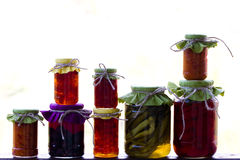 Jars of homemade delicacies Stock Image