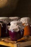 Jars of homemade jam. Stock Image