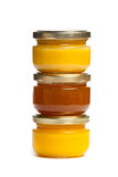 Jars of honey. Stock Image
