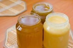 Jars of honey Royalty Free Stock Photos