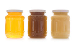 Jars of honey Royalty Free Stock Photography
