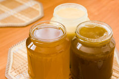 Jars of honey Stock Photography