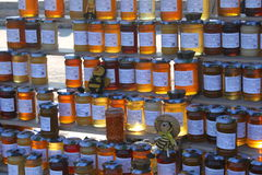 Jars of honey Stock Photos
