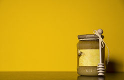 Jars of honey Royalty Free Stock Image