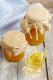 Jars of honey Stock Photos