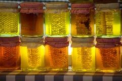 Jars of honey Royalty Free Stock Image