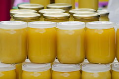 Jars of honey Royalty Free Stock Images