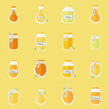 Jars of honey. Seamless backgrond Stock Photography