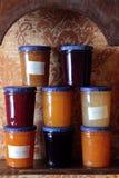 Jars of jam Royalty Free Stock Photo