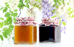 Jars of jam Royalty Free Stock Photo