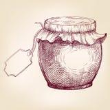Jars of jam  hand drawn vector llustration  sketch Stock Photo