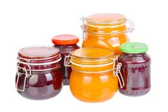Jars of Jam Royalty Free Stock Images
