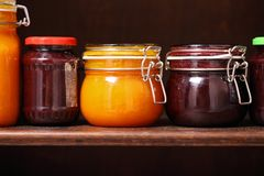 Jars of Jam Royalty Free Stock Photography