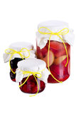 Jars of jams Royalty Free Stock Photo