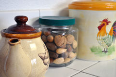 Jars in the Kitchen Royalty Free Stock Photography