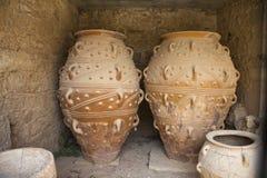 Jars at knossos Royalty Free Stock Photos