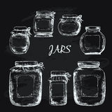 Jars with label Royalty Free Stock Images