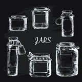 Jars with label Stock Images