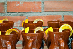 Jars and lemon Stock Photography