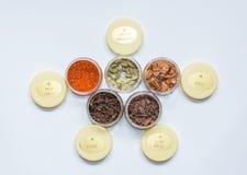 Jars med kryddor Royaltyfri Fotografi