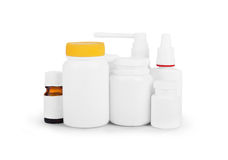 Jars and medical preparations Royalty Free Stock Image