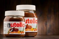 Jars of Nutella spread Royalty Free Stock Photo
