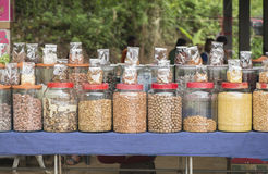 Jars of nuts. Stock Images