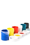 Jars of paint . Stock Images