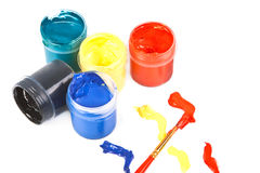 Jars of paint . Stock Photography