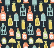 Jars pattern Stock Image