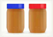 Jars of peanut butter Royalty Free Stock Images