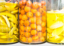 Jars of pickled vegetables Stock Photography