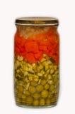 Jars pickled vegetables. Royalty Free Stock Images