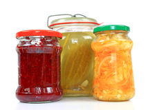 Jars with pickled vegetables Stock Image