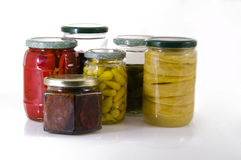 Jars of pickles. Royalty Free Stock Image