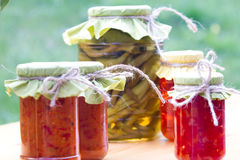 Jars of pickles Royalty Free Stock Photography