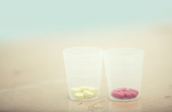 Jars with pills Stock Photo