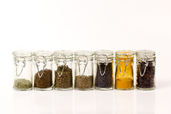 Jars with spices Royalty Free Stock Image