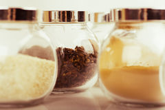 Jars with spices Stock Photo