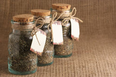 Jars of spices Royalty Free Stock Image