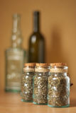 Jars of spices royalty free stock photo