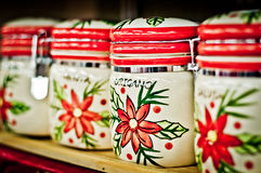 Jars with spices Stock Image