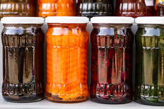 Jars of tasty jam Stock Images