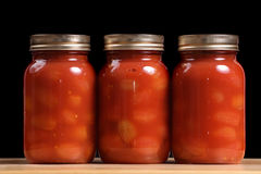 Jars of Tomatoes Stock Photo