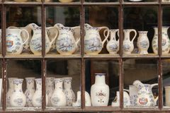 Jars and vases. Chenonceau. France Royalty Free Stock Images