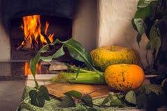 Jarski jedzenie Warzywa, owoc i jagody, piec w piekarniku 1 życie wciąż Światło dzienne obrazy stock