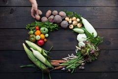 Jarski rolnictwo asortyment, świeży życiorys jedzenie Dieta Superfood zdjęcia stock